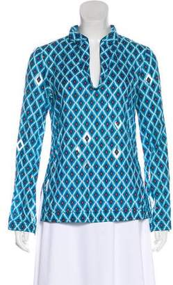 Tory Burch Sequined Long-Sleeve Tunic
