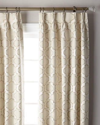 Thomas Laboratories Misti Modern Luxuries Pearl 3-Fold Pinch Pleat Curtain Panel, 120""