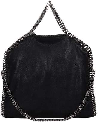 Stella McCartney Falabella Fold Over Tote Black Faux Leather Bag