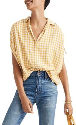Madewell Central Ruched Sleeve Shirt