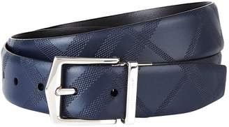 Burberry Reversible Check Embossed Belt
