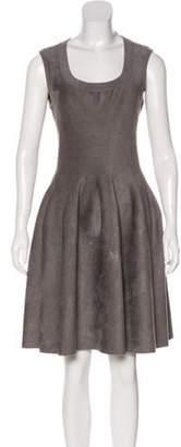 Alaà ̄a Sleeveless Fit & Flare Dress Grey Alaà ̄a Sleeveless Fit & Flare Dress