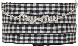 Miu Miu Silver Logo Charm Bracelet