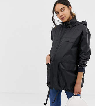 Asos DESIGN maternity pac a mac jacket