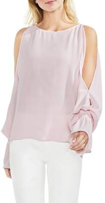 Vince Camuto Cold Shoulder Flare Cuff Top (Regular and Petite)