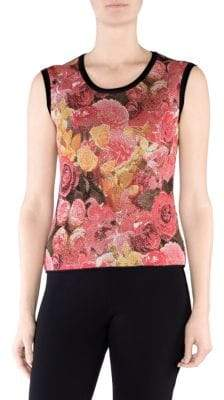 Stizzoli, Plus Size Floral Shell Top