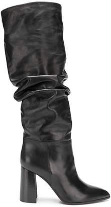 Deimille block heel knee-heigh boots