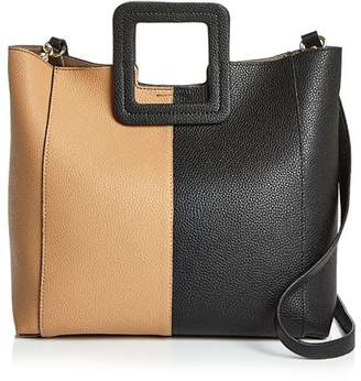 TMRW Studio Antonio Color Block Leather Satchel