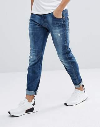 G Star G-Star Arc 3d Slim Jeans With Abraisons Midwash