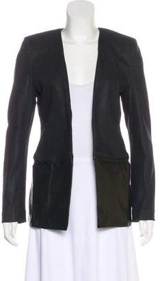7 For All Mankind Leather-Accented Denim Jacket