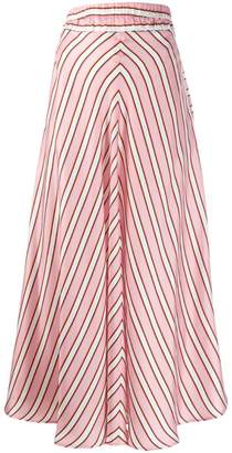 Altea striped maxi skirt