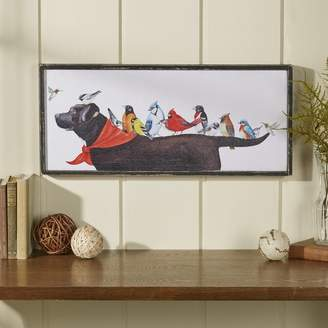 Winston Porter 'Birds on Dog' Framed Painting Print on Canvas