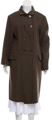 Bottega Veneta Wool-Blend Long Coat