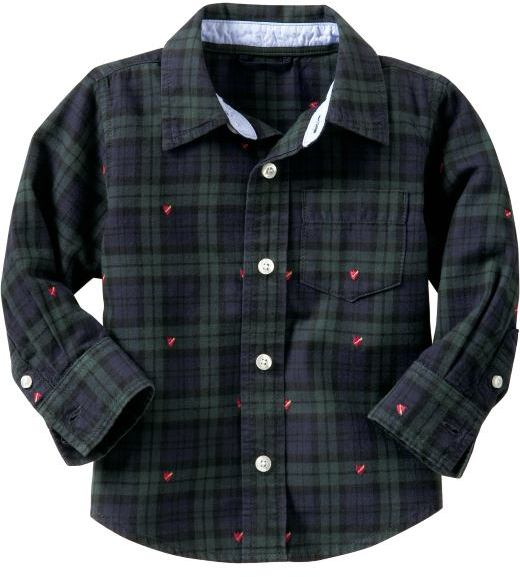 Gap Embroidered plaid shirt