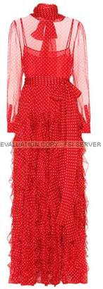 Valentino Polka-dot silk gown