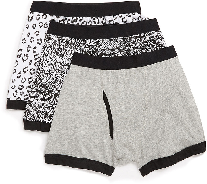 Topman Animal Pattern 3 Pack Underwear