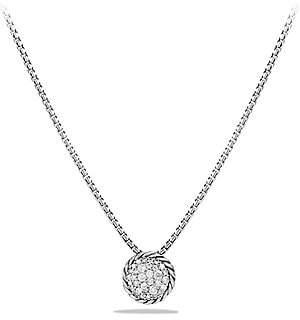 David Yurman Women's Petite Pavé Pendant Necklace with Diamonds