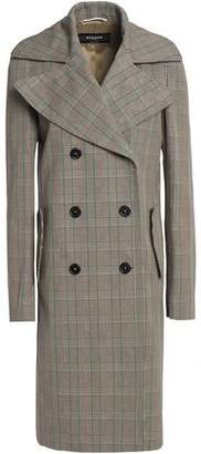 Rochas Double-Breasted Prince Of Wales Checked Cotton Coat