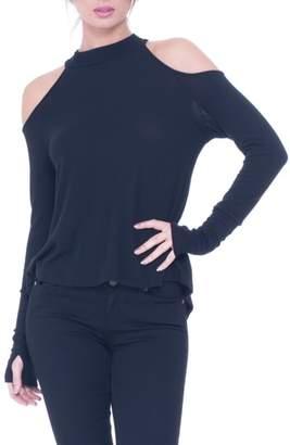 Olian Wanda Cold Shoulder Maternity Top
