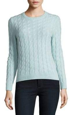 Lord & Taylor Petite Cable-Knit Cashmere Sweater