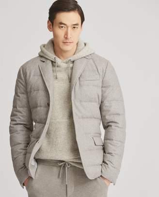 Ralph Lauren Wool-Blend Flannel Down Jacket