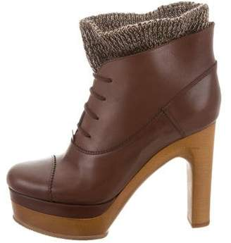 Chloé Platform Lace-Up Booties