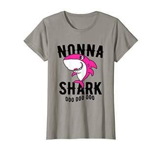 Womens Nonna Shark T Shirt Mother Grandma Halloween Christmas T-Shirt