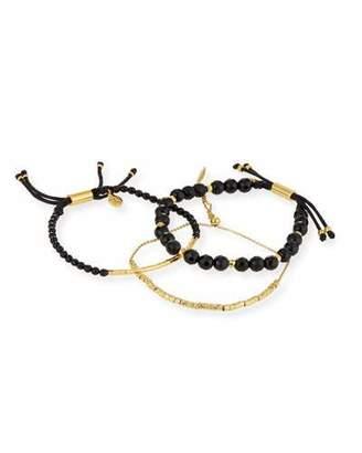 Gorjana Laguna Black Beaded Bracelets, Set of 3