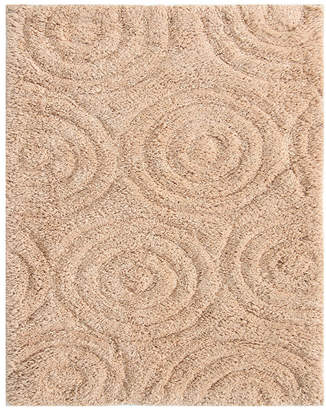 Perthshire Platinum Collection Circles 20x30 Cotton Bath Rug Bedding