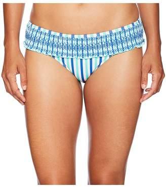 Vineyard Vines Golf Hope Bay Stripe Smocked Bikini Bottom Women's Swimwear