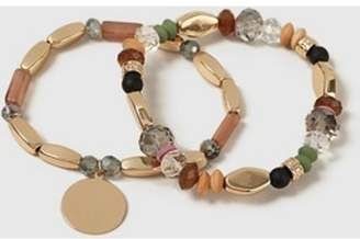 Dorothy Perkins Womens Multi Coloured Mixed Bead Stretch Bracelet