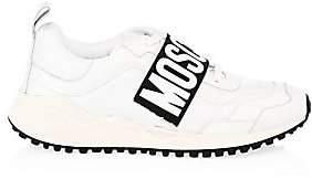 Moschino Men's Leather Logo Strap Dad Sneakers