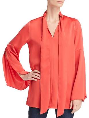 Kenneth Cole Scarf-Accented Draped Tunic