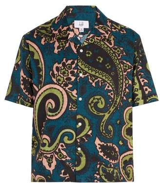 Dunhill Paisley-print short-sleeved cotton shirt