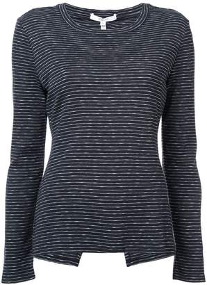 Derek Lam 10 Crosby Long Sleeve Tee Asymmetrical Back Detail