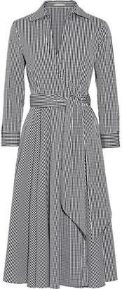 Michael Kors Collection - Gingham Stretch Cotton-blend Poplin Wrap Dress - Black $1,350 thestylecure.com