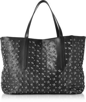 Jimmy Choo Black Stars Studded Leather Pimlico Large Tote Bag