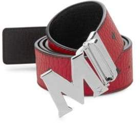 MCM Men's Claus Reversible Belt - Ruby Red