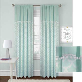 Better Homes & Gardens Better Homes and Gardens Scallops with Poms Curtain Panel