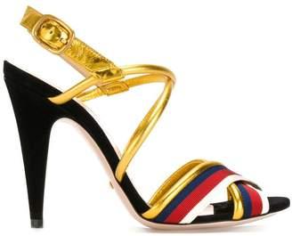 Gucci Sylvie metallic sandals