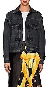 Sacai Women's Knot-Detailed Denim Trucker Jacket - Black