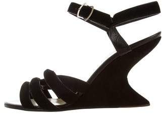 Salvatore Ferragamo Suede Wedge Sandals w/ Tags