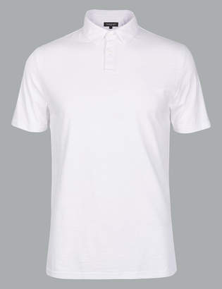 AutographMarks and Spencer Supima Cotton Slim Fit Polo Shirt