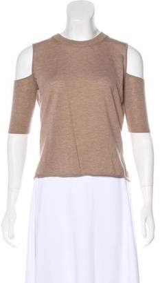 Michelle Mason Wool Cutout-Accented Top