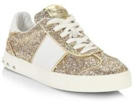 Valentino Fly Crew Glitter Sneakers