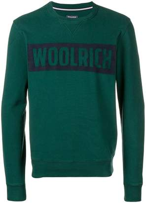 Woolrich logo embroidered sweatshirt