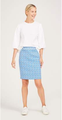 J.Mclaughlin Halle Reversible Skirt in Casavito Seashrub