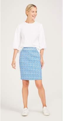 J.Mclaughlin Halle Reversible Skirt in Casavito Seashrub