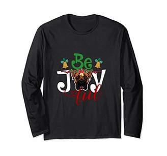 Boxer Jingle Bells Holly Berries Long Sleeve shirt