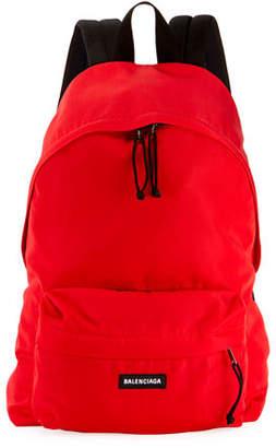 Balenciaga Men's Explorer Logo-Patch Backpack